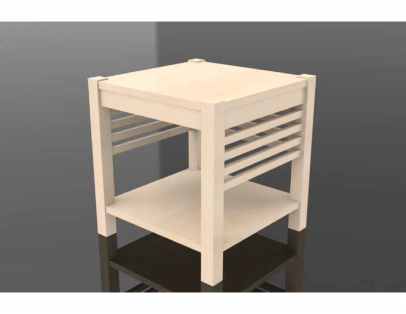 PHOTO RENDERING OF A TABLE THAT WAS DRAWN WITH SOLIDWORKS